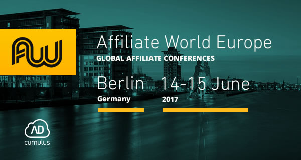 Come meet us at Affiliate World Europe 2017!